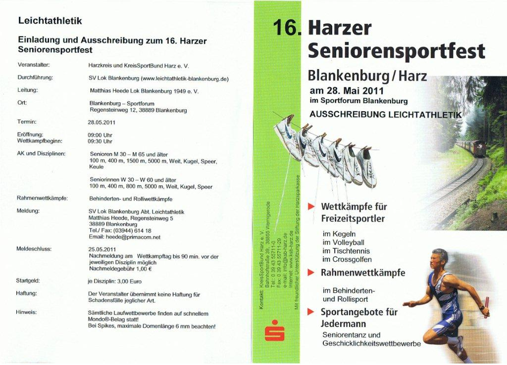 Harzer Seniorensportfest am 28.05.11